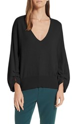 Brochu Walker Casimir Cashmere Pullover Sweater Black Onyx