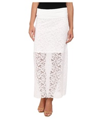 Kensie Botnical Lace Skirt Ks5k6147 White Women's Skirt