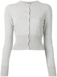 N.Peal Cropped Cardigan Grey
