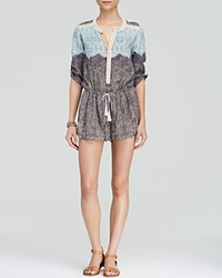 Twelfth St. By Cynthia Vincent Twelfth Street By Cynthia Vincent Romper Paisley Print Drawstring
