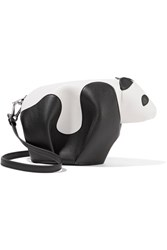 Loewe Panda Leather Shoulder Bag White
