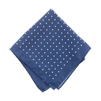 J.Crew Italian Silk Pocket Square In Classic Dot Classic Navy