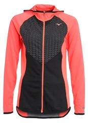 Mizuno Sports Jacket Black Fiery Coral