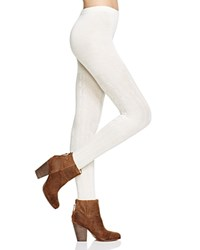 Hue Bold Cable Sweater Tights Ivory