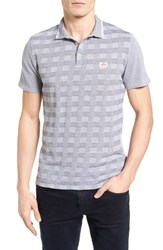 Ben Sherman Men's Check Pique Polo