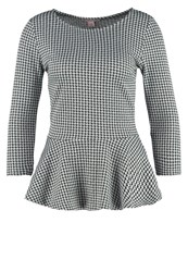 Anna Field Long Sleeved Top Black Offwhite