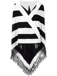 Antonia Zander Striped Cape Black