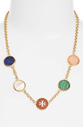 Tory Burch Women's Logo Disc Necklace