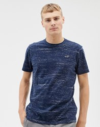 Hollister Icon Logo T Shirt In Navy Marl