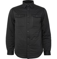 Snow Peak Quilted Stretch Jersey Shirt Jacket Black