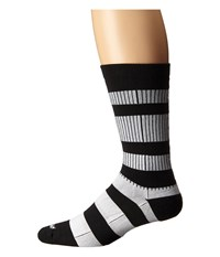 Wigwam Channel Crew 1 Pair Pack Black White Crew Cut Socks Shoes