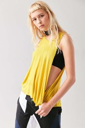 Silence And Noise Twist Tangle Muscle Tank Top Yellow