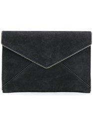 Rebecca Minkoff Envelope Zipper Trim Wallet Black
