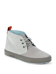 Del Toro Chandler Parson Leather High Top Sneakers Grey
