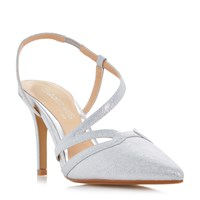 Head Over Heels Chloe Assymetric Pointed Court Shoes Silver Metallic