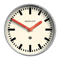 Newgate The Luggage Galvanised Wall Clock Red Hands