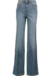 Marc By Marc Jacobs High Rise Wide Leg Jeans Mid Denim