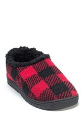 Muk Luks John Faux Fur Slipper Red