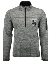 G3 Sports Men's Los Angeles Kings Fast Pace 1 4 Zip Pullover Gray Black Heather
