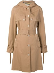 Gucci Hooded Trench Coat Brown