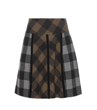 Etro Plaid Wool Skirt Multicoloured