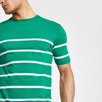 Minimum Green Stripe T Shirt