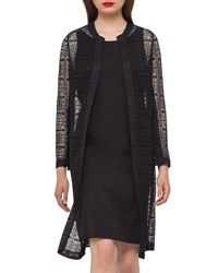 Akris Hadil Lace Long Jacket Goodwood