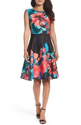 Tahari Women's Floral Fit And Flare Dress
