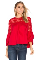 Endless Rose Louvre Top Red