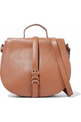 Halston Leather Shoulder Bag Camel