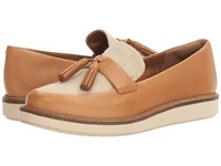 Clarks Glick Castine Light Tan Leather Women's Shoes Brown