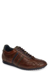 Cycleur De Luxe Crush City Low Top Sneaker Dark Cognac Leather