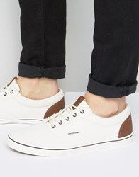 Jack And Jones Vision Canvas Sneakers Cream