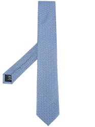 Gieves And Hawkes Printed Tie Blue