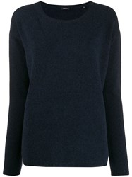 Aspesi Round Neck Sweater Blue