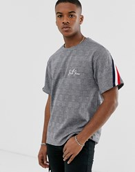 Sixth June T Shirt In Grey Prince Of Wales Check