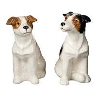 Quail Ceramics Jack Russell Salt And Pepper Shakers
