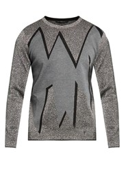 Christopher Kane Smashed Jacquard Sweater Grey Multi