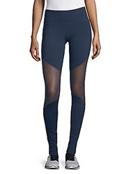 Electric Yoga Mesh Active Leggings Navy
