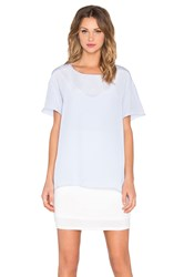 Heather Silk Overlay Tee Dress Blue