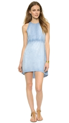 Bella Dahl Open Back Halter Dress Mist Wash