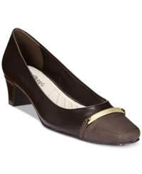 Easy Street Shoes Easy Street Alexis Pumps Women's Shoes Brown Combo