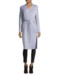 French Connection Heather Long Surplice Robe Heather Grey