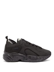 Acne Studios Rockaway Safety Mesh And Leather Trainers Black