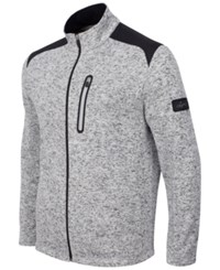 Greg Norman For Tasso Elba Men's Big And Tall Fleece Jacket Only At Macy's Snow Heather