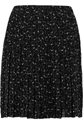 See By Chloe Printed Swiss Dot Chiffon Mini Skirt Black