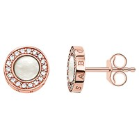 Thomas Sabo Glam And Soul Pearl And Zirconia Stud Earrings Rose Gold