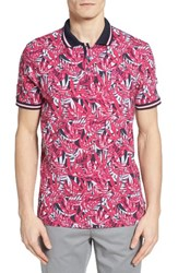 Ted Baker Men's London Legolf Leaf Print Polo