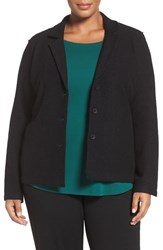 Eileen Fisher Plus Size Women's Notch Collar Merino Wool Jacket