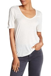 Zadig And Voltaire Scoop Neck Tee White